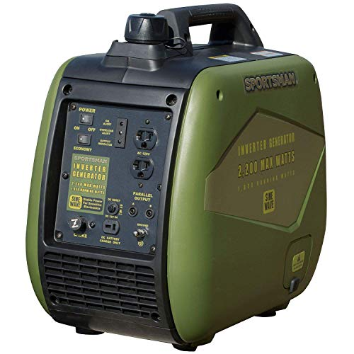 Sportsman 2,200-Watt Gasoline Powered Recoil Start Portable Digital Inverter Generator with Parallel...