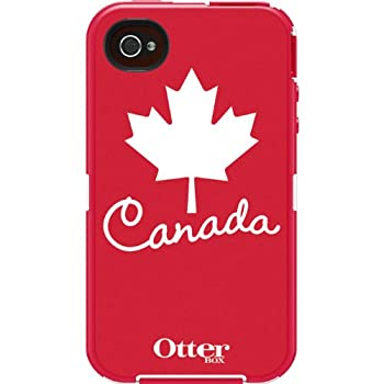 OtterBox Defender Series Anthem Collection Case for iPhone 4/4S - Retail Packaging - Canada Flag  Discontinued by Manufacturer