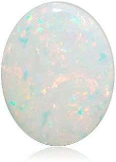 Mysticdrop Natural Oval Cabachon AA Australian White Opal Loose Gemstone Available from 5x3mm - 10x8mm