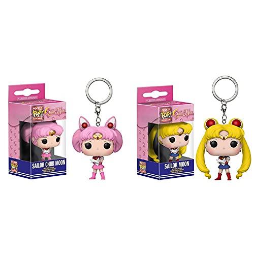 2 Uds Figuras De Anime De Vinilo Pop Sailor Moon Llavero Figura Colgante Modelo Muñecas Colecciones Juguetes Niños 5Cm