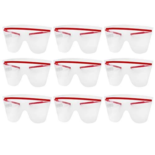 Milisten Occhiali Protettivi Monouso Occhiali Protettivi Monouso Occhiali Antinebbia da 10 Pz per Laboratorio di Fabbrica All'aperto