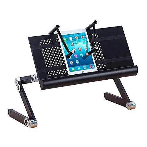 WSDSX Adjustable Laptop Stand, Aluminum Laptop Desk/Table, Office Laptop Riser Lightweight Portable Bed/Sofa (Color : Black)