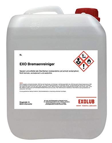 EXOLUB Bremsenreiniger Montagereiniger Entfetter ACETONFREI 5L Kanister 5 Liter | Säuberung und Entfettung Aller Oberflächen | schnelle Verdampfung
