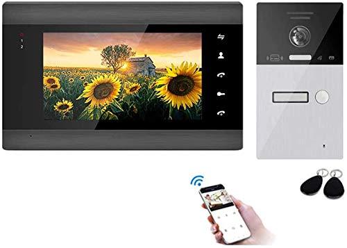 Door Bell, Video Door Phone WiFi IP Doorbell with Monitor Intercom System, 7 inch LCD Display Video Doorphone Kit, Night Vision Front Door Release Unlock