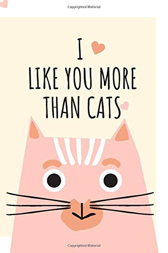 I LIKE YOU MORE THAN CATS: Notebook Jounal gift for man woman boy girl 6x9'' 100 Page