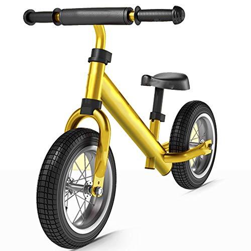 YUMEIGE Laufräder Segelflugrad mit aufblasbarem Gummirad Kleinkind Laufrad Alter 2-6 Jahre Jungen Mädchen Pedale Trainingsfahrrad 4 Farben (Color : Yellow)