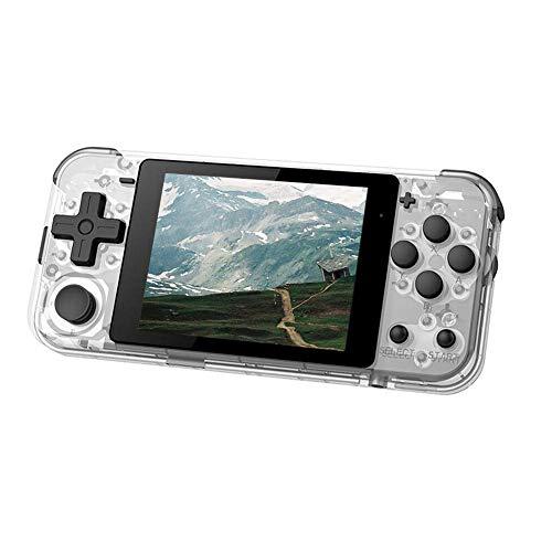 Amusingtao Videospiel Konsole Q90 Eingebaute 2000 Spiele Heim Reise HD Mini Handgehalten Retro Kinder Geschenk Tragbar Unterhaltung 3.0 Inch Musik Play für PSP (Blau) - Durchsichtig, Free Size