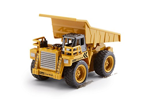 RC Auto kaufen Baufahrzeug Bild 4: Revell Control 23495 RC Baufahrzeug Kipplaster ferngesteuertes Auto, gelb-orange, Länge: ca. 10 cm*