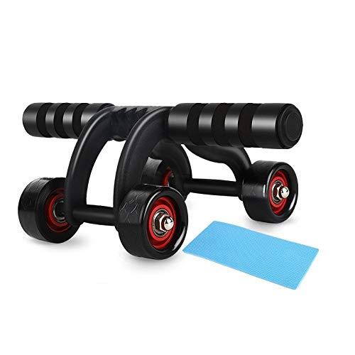 NA Fitness buikfiets AB rol met kussen buikspiertrainingsapparaat voor fitnessoefeningen gezondheid en fitness Home fitnessapparatuur