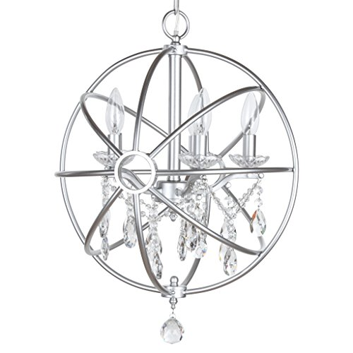 Amalfi Decor 5 Light Orb Crystal Beaded Chandelier, LED Cage...