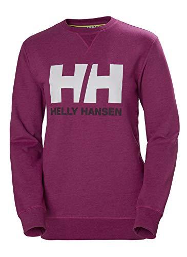 Helly Hansen HH Logo Crew Sudadera Deportiva, Mujer, Festival Fuchsia, XS