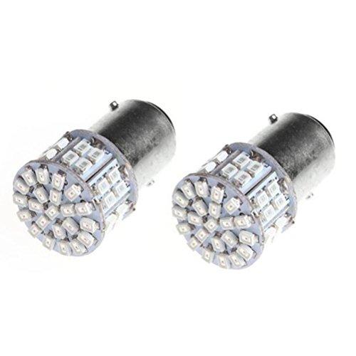 VORCOOL 2pcs ampoules de rechange LED pour feux de frein Turn éclairage de secours – rouge (1157, double contact BAY15D)