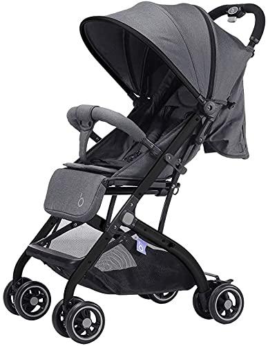 Cochecito de bebé recién nacido Cochecito infantil infantil bebé para recién nacidos y niños pequeños, cochecito ligero con marco de aluminio, área de asiento grande, reclinación de 4 posiciones, sill