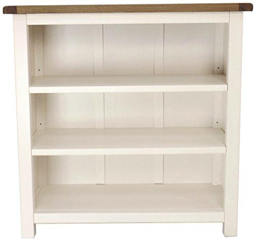 Schrank Bits Bücherregal, niedrig, Holz, Weiß
