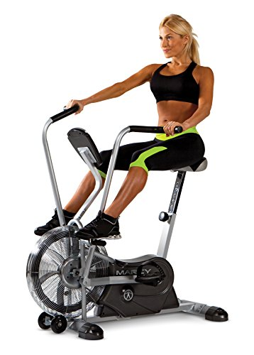 Marcy Exercise Upright Fan Bike for Cardio Training and Workout AIR-1