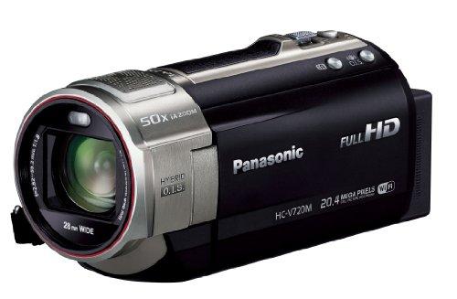 パナソニック デジタルハイビジョンビデオカメラ V720 内蔵メモリー64GB ブラック HC-V720M-K