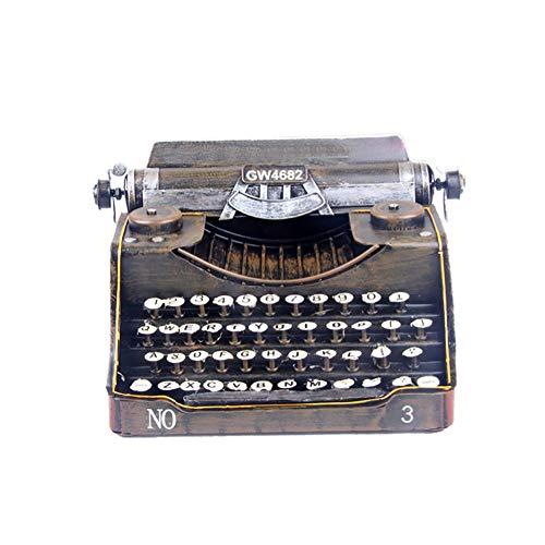 Modelo De Máquina De Escribir De Hierro, Decoración Del Hogar Retro Accesorios De Fotografía Decoraciones, 17Cm × 25Cm × 13Cm, Peso: 1.1Kg