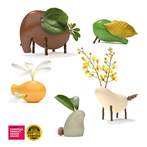 Taksa Toys Locomo Family Multicolored Edition II (Set of 5) - Wooden Animal Figures Open-Ended Educational Outdoor Play to Trigger Child's Imagination and The Love of Nature. Waldorf Montessori Toy.