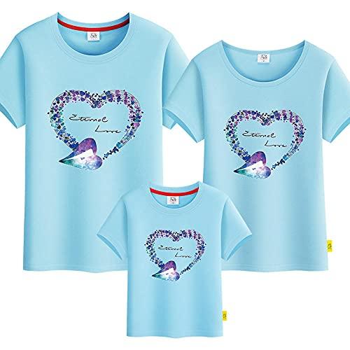 T-shirt Niña,Traje de jardín de manga corta de kindergarten de dibujos animados Uniformes de escuela primaria y secundaria, vestido de jardín de infancia, traje de verano actividades colectivas-azul_