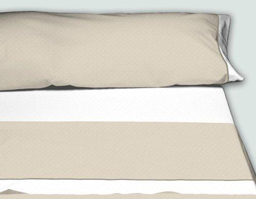 Burrito Blanco - Juego de sábanas Claro de Luna 238 para cama 150x190/200 cm, color beige