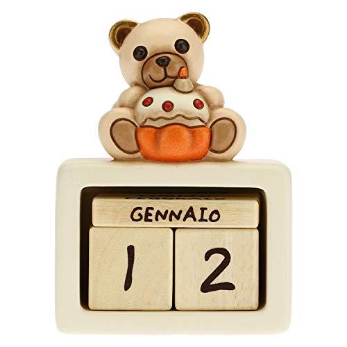THUN - Calendario perpetuo de mesa de cerámica para cumpleaños unisex