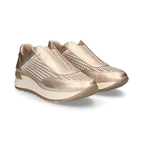 24 HORAS 23970, Zapatillas sin Cordones Mujer, Dorado (Jazmin 3), 40 EU