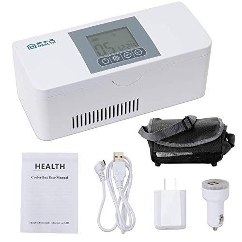 Caja port/átil refrigerada por insulina port/átil de Viaje USB Que refresca la peque/ña Caja del refrigerador Refrigerador de insulina