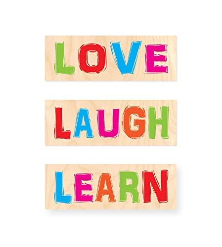 LOVE LAUGH LEARN | Tablas de Madera impresas