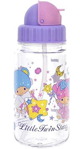 Best Review Of Little Twin Stars BPA & BPS Free Tritan Straw Water Bottle 14-Ounce Kids