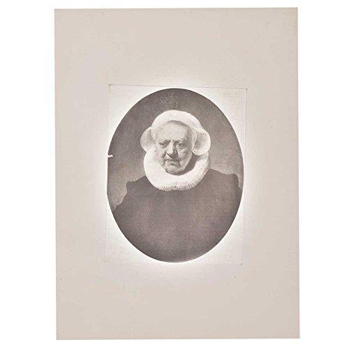 Indien Étagère Papier Fait Main Portrait d'un Vieux Femme Image Photo/Impressions/Lithographs/Décoration Murale Pt-199