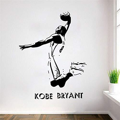 adesivo murale adesivo muro Kobe Bryant Poster Decalcomania Sports Nba Giocatore di basket per ragazzo Camera da letto per camera dei bambini della scuola materna
