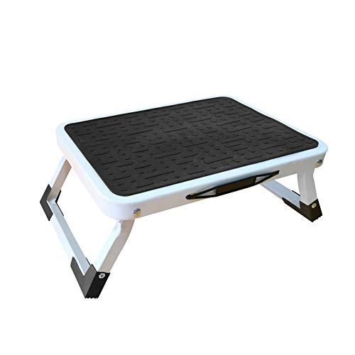 Duwee Klappbarer Tritthocker Tragbarer einstufiger Hocker mit rutschfesten Matten und starken Beinen für Küche, Bad, TÜV SÜD Zertifiziert