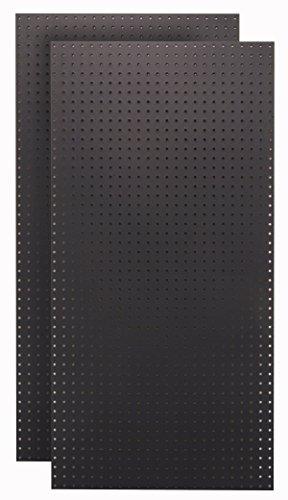 Triton Products (HDB-2) 2) 24 In. W x 48 In. H x 1/4 In. D Black High Density Fiberboard Pegboards
