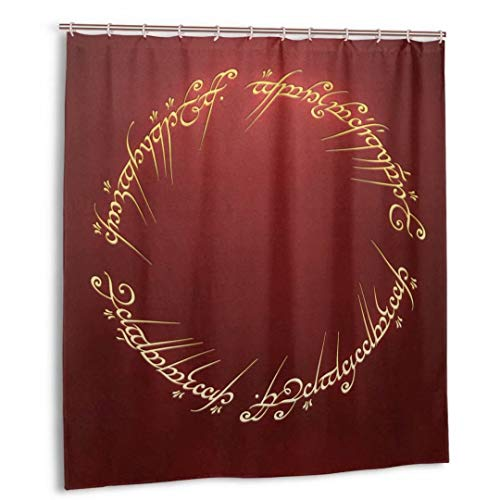 WENShop Lord Rings Shower Curtain Funny Waterproof Shower Curtains Bath Curtain Bathroom Set with 12 Hooks-for Home Bathroom Decoration 66x72in