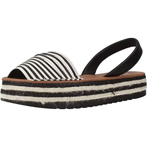 MENORQUINAS POPA Damen Sandalen Sandaletten 119002P Weiß 38 EU