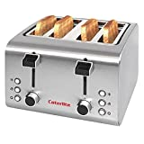 Caterlite 4 Slot Stainless Steel Toaster 4 Slots 1.8kW