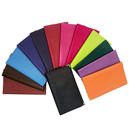 Charmoni Jay - Custodia porta assegni con tacco in alto, 2 scomparti per carte di credito, carta d'identità, 11 cm x 19 cm