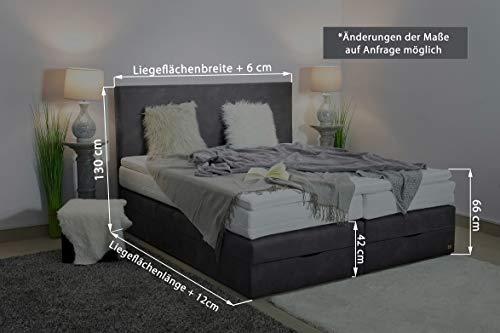 Boxspringbett mit Bettkasten in Handarbeit gefertigt Bild 3*