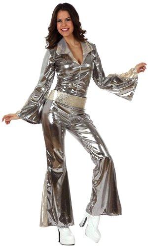 Atosa 10442 - Verkleidung Disco grau-silber Damen, Größe 38-40