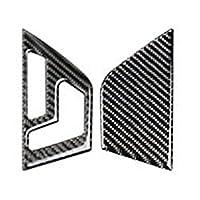 車の室内装飾 炭素繊維スタイリングドアシートボタンパネル装飾カバーステッカートリム用 にとってM-ercedes用 B-enz C クラス W204 (サイズ : A Black)