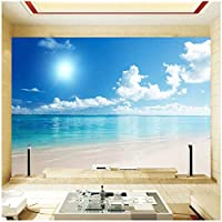 3D壁壁画 カスタム壁画 花の風景写真動物 リビングルームテレビソファ背景防水ステッカ-350x250cm/138x98inch