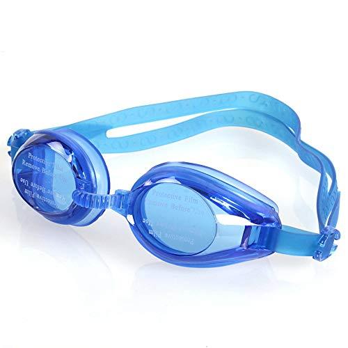 CFDYKRP Ajustable Profesional Silicona Hombres Mujeres Buceo Agua Deportes Eyewear Gafas Anti-Fog UV Gafas de natación (Color : Blue)
