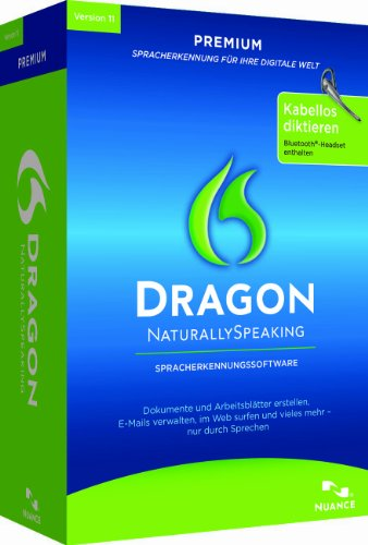 Dragon NaturallySpeaking 11 Premium Wireless, German Edition (PC)
