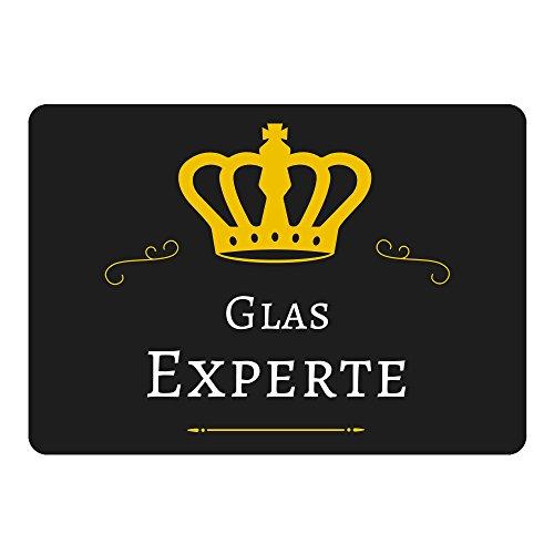 Muismat Glas Expert zwart