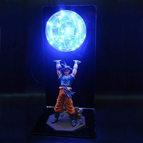 Luz Led Dragon Ball Z Light Goku Bomba De Potencia Lámpara De Mesa Creativa Luz Decorativa Luz LED De Noche DBZ (Emitting Color : Blue)
