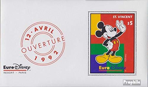 Prophila Collection St. Vincent Block226 (kompl.Ausg.) 1992 Eröffnung €URO-Disn. (Briefmarken für Sammler) Comics
