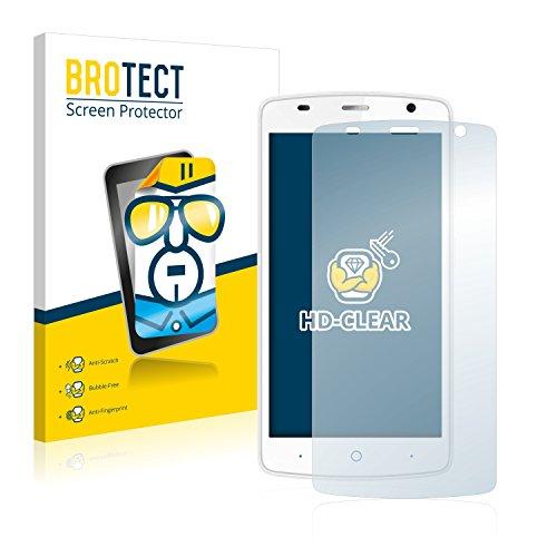 BROTECT Schutzfolie kompatibel mit ZTE Blade L5 Plus (2 Stück) klare Bildschirmschutz-Folie