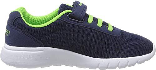 KangaROOS Unisex-Kinder K-Gard EV Sneaker, Blau (Dk Navy/Lime 4054), 35 EU