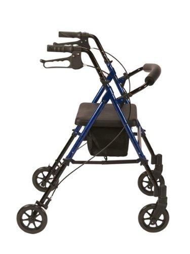 Drive Medical R8BLHA - Silla andador con ruedas (aluminio, altura ajustable), color azul