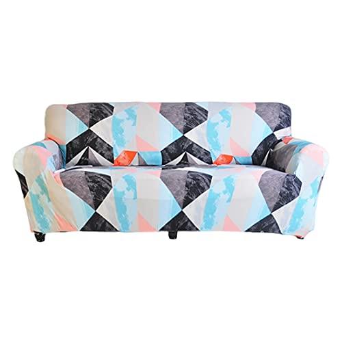 WXQY Funda de sofá de celosía geométrica, Funda de sofá elástica para Sala de Estar, Toalla de sofá, Funda de sofá de Esquina en Forma de L, A9, 1 Plaza